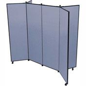 "6 Panel Display Tower, 5'9""H, Fabric - Summer Blue"