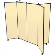 "6 Panel Display Tower, 5'9""H, Fabric - Sand"