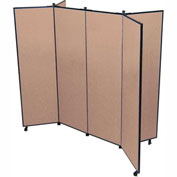 "6 Panel Display Tower, 6'5""H, Fabric - Walnut"