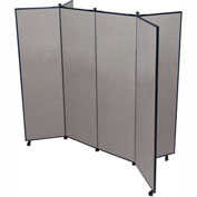 "6 Panel Display Tower, 6'5""H, Fabric - Grey Smoke"