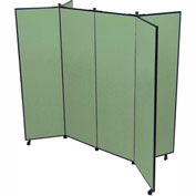 "6 Panel Display Tower, 6'5""H, Fabric - Sea Green"