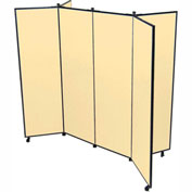 "6 Panel Display Tower, 6'5""H, Fabric - Sand"