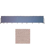 "Screenflex 13 Panel Portable Room Divider, 4'H x 24'1""L, Vinyl Color: Raspberry Mist"