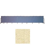 "Screenflex 13 Panel Portable Room Divider, 4'H x 24'1""L, Vinyl Color: Hazelnut"