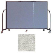 "Screenflex 3 Panel Portable Room Divider, 4'H x 5'9""L, Vinyl Color: Granite"