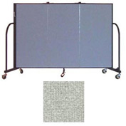 "Screenflex 3 Panel Portable Room Divider, 4'H x 5'9""L, Vinyl Color: Mint"
