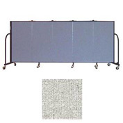 "Screenflex 5 Panel Portable Room Divider, 4'H x 9'5""L, Vinyl Color: Granite"