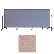 "Screenflex 5 Panel Portable Room Divider, 4'H x 9'5""L, Vinyl Color: Raspberry Mist"