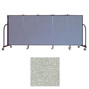 "Screenflex 5 Panel Portable Room Divider, 4'H x 9'5""L, Vinyl Color: Mint"