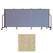 "Screenflex 5 Panel Portable Room Divider, 4'H x 9'5""L, Vinyl Color: Sandalwood"