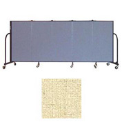 "Screenflex 5 Panel Portable Room Divider, 4'H x 9'5""L, Vinyl Color: Hazelnut"