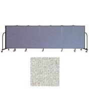 "Screenflex 7 Panel Portable Room Divider, 4'H x 13'1""L Vinyl Color: Granite"