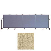 "Screenflex 7 Panel Portable Room Divider, 4'H x 13'1""L Vinyl Color: Sandalwood"