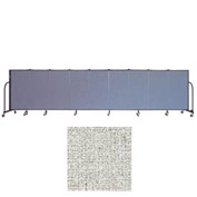 "Screenflex 9 Panel Portable Room Divider, 4'H x 16'9""L, Vinyl Color: Granite"