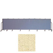 "Screenflex 9 Panel Portable Room Divider, 4'H x 16'9""L, Vinyl Color: Hazelnut"