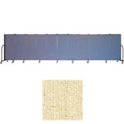 "Screenflex 11 Panel Portable Room Divider, 5'H x 20'5""L, Vinyl Color: Hazelnut"