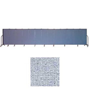"Screenflex 13 Panel Portable Room Divider, 5'H x 24'1""L, Vinyl Color: Blue Tide"