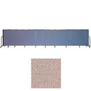 "Screenflex 13 Panel Portable Room Divider, 5'H x 24'1""L, Vinyl Color: Raspberry Mist"