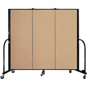 "Screenflex 3 Panel Portable Room Divider, 5'H x 5'9""L, Fabric Color: Wheat"