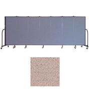"Screenflex 7 Panel Portable Room Divider, 5'H x 13'1""L, Vinyl Color: Raspberry Mist"