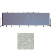 "Screenflex 9 Panel Portable Room Divider, 5'H x 16'9""L, Vinyl Color: Mint"
