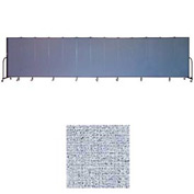 "Screenflex 11 Panel Portable Room Divider, 6'H x 20'5""L, Vinyl Color: Blue Tide"