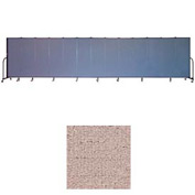 "Screenflex 11 Panel Portable Room Divider, 6'H x 20'5""L, Vinyl Color: Raspberry Mist"