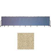 "Screenflex 11 Panel Portable Room Divider, 6'H x 20'5""L, Vinyl Color: Sandalwood"