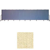 "Screenflex 11 Panel Portable Room Divider, 6'H x 20'5""L, Vinyl Color: Hazelnut"