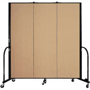 "Screenflex 3 Panel Portable Room Divider, 6'H x 5'9""L, Fabric Color: Wheat"