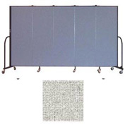 "Screenflex 5 Panel Portable Room Divider, 6'H x 9'5""L, Vinyl Color: Granite"