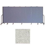 "Screenflex 7 Panel Portable Room Divider, 6'H x 13'1""L, Vinyl Color: Granite"