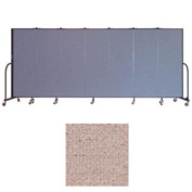 "Screenflex 7 Panel Portable Room Divider, 6'H x 13'1""L, Vinyl Color: Raspberry Mist"