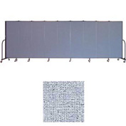 "Screenflex 9 Panel Portable Room Divider, 6'H x 16'9""L, Vinyl Color: Blue Tide"