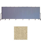 "Screenflex 9 Panel Portable Room Divider, 6'H x 16'9""L, Vinyl Color: Sandalwood"