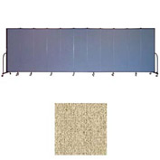 "Screenflex 11 Panel Portable Room Divider, 6'8""H x 20'5""L, Vinyl Color: Sandalwood"
