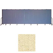 "Screenflex 11 Panel Portable Room Divider, 6'8""H x 20'5""L, Vinyl Color: Hazelnut"