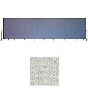 "Screenflex 13 Panel Portable Room Divider, 6'8""H x 24'1""L, Vinyl Color: Granite"