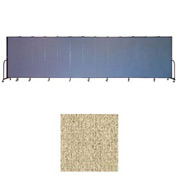 "Screenflex 13 Panel Portable Room Divider, 6'8""H x 24'1""L, Vinyl Color: Sandalwood"
