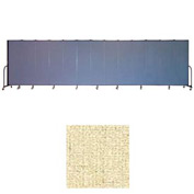 "Screenflex 13 Panel Portable Room Divider, 6'8""H x 24'1""L, Vinyl Color: Hazelnut"