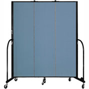"Screenflex 3 Panel Portable Room Divider, 6'8""H x 5'9""L, Fabric Color: Summer Blue"