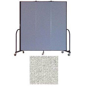 "Screenflex 3 Panel Portable Room Divider, 6'8""H x 5'9""L, Vinyl Color: Granite"
