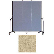 "Screenflex 3 Panel Portable Room Divider, 6'8""H x 5'9""L, Vinyl Color: Sandalwood"