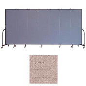 "Screenflex 7 Panel Portable Room Divider, 6'8""H x 13'1""L, Vinyl Color: Raspberry Mist"