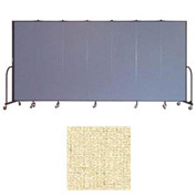 "Screenflex 7 Panel Portable Room Divider, 6'8""H x 13'1""L, Vinyl Color: Hazelnut"