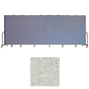 "Screenflex 9 Panel Portable Room Divider, 6'8""H x 16'9""L, Vinyl Color: Granite"