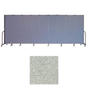 "Screenflex 9 Panel Portable Room Divider, 6'8""H x 16'9""L, Vinyl Color: Mint"