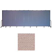 "Screenflex 13 Panel Portable Room Divider, 7'4""H x 24'1""L, Vinyl Color: Raspberry Mist"