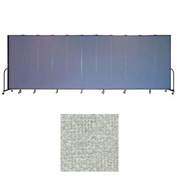 "Screenflex 13 Panel Portable Room Divider, 7'4""H x 24'1""L, Vinyl Color: Mint"