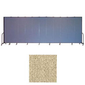 "Screenflex 13 Panel Portable Room Divider, 7'4""H x 24'1""L, Vinyl Color: Sandalwood"